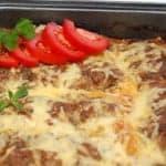 Баклажаны, запеченные в духовке с сыром и фаршем