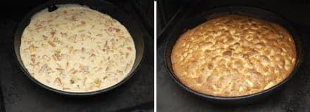 Пирог до и после выпечки