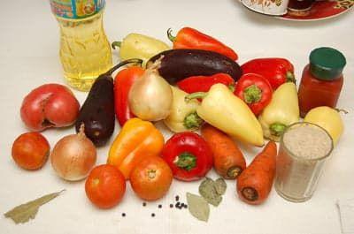 Красивый набор овощей