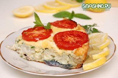 Рыба с сыром, запеченная в духовке