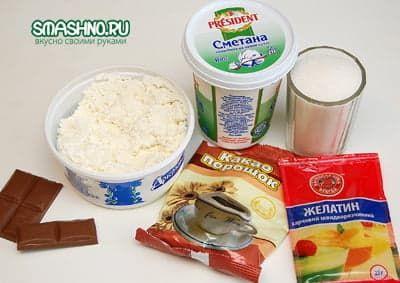 Необходимые для творожного десерта продукты