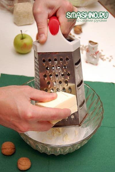 масло для печенья натираю на терке