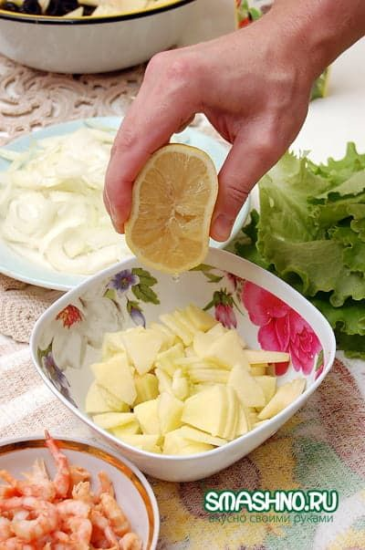 Сбрызнул соком лимона