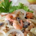 Салат с креветками, интересный вкус
