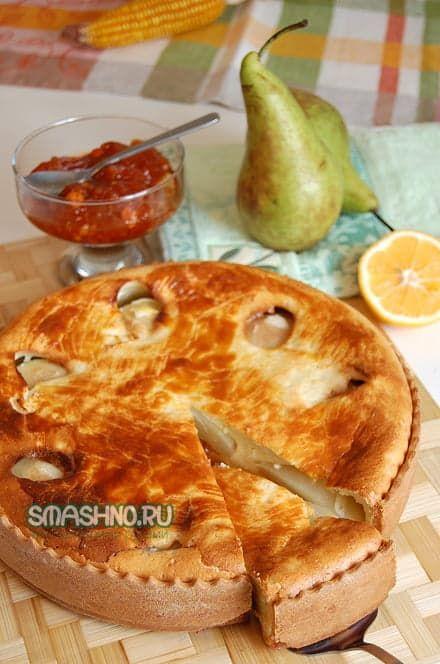 Румяный и очень сочный творожный пирог