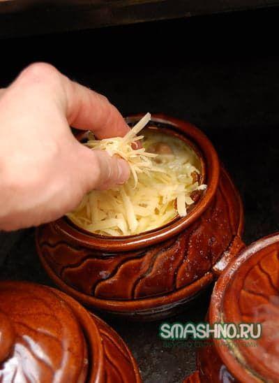 рецепт кальмаров в духовке с грибами и