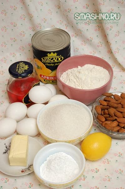 Продукты для данного рецепта торта