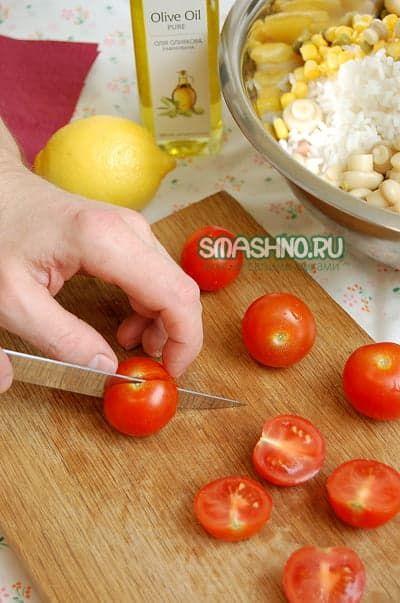 Салат из риса рецепт