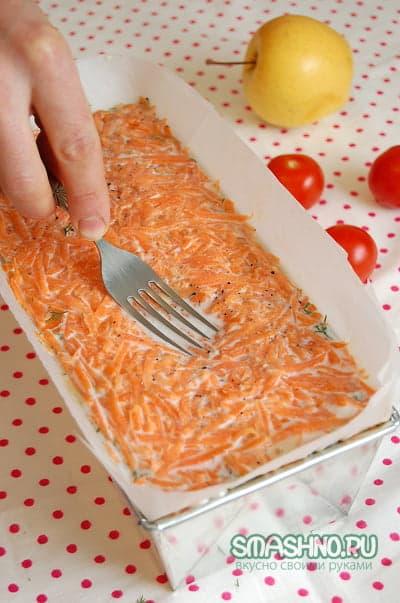 Заливка должна доходить до морковки