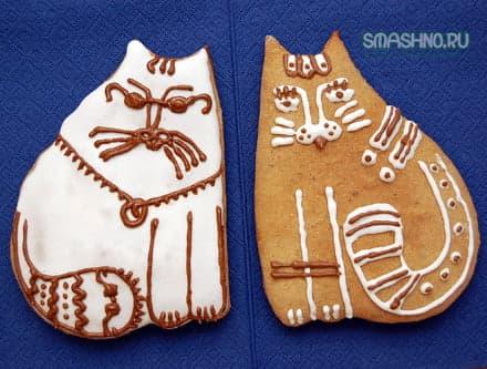 Готовые коты-пряники