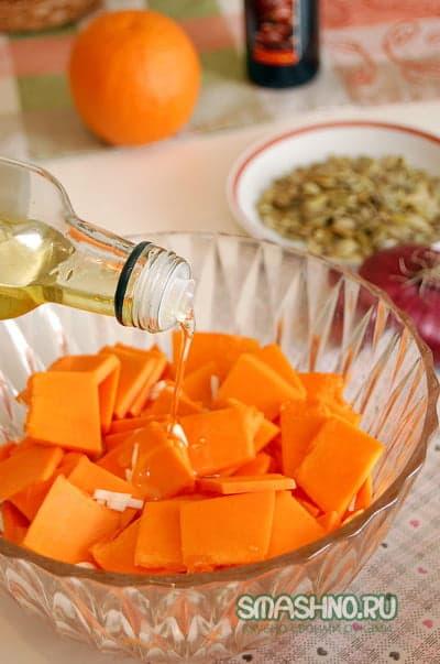 Заправляю оливковым маслом