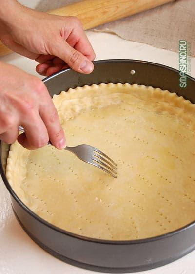 Подготовка основания пирога