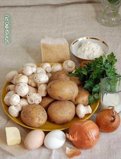 Продукты для картофельных фрикаделек