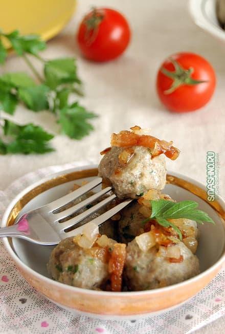 Картофельные фрикадельки с грибами