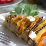 Рисовая запеканка с мясом и овощами