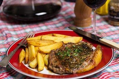 стейк из говядины на сковороде рецепт с фото пошагово в домашних условиях