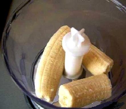 банан в блендере