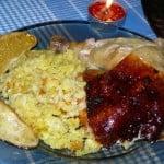 Курица в апельсинах, фаршированная рисом