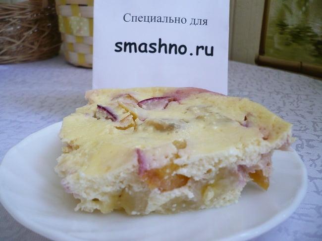 Творожно-фруктовый десерт из микроволновки