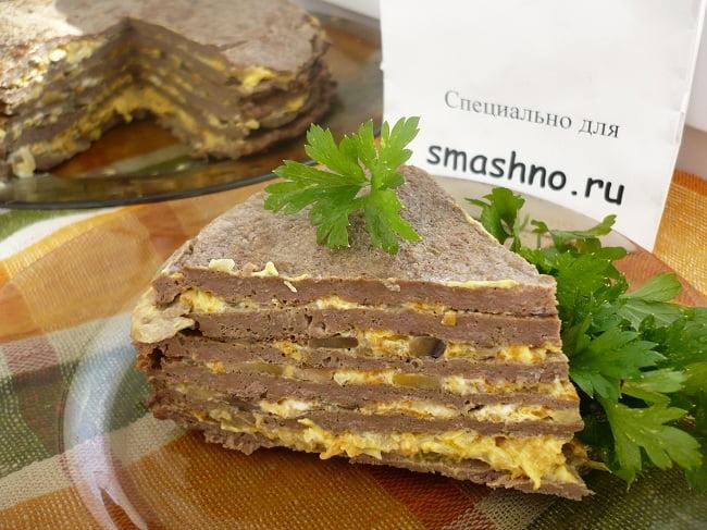Готовый печёночный торт