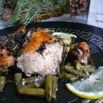 «Лимонная» курица со стручковой фасолью