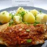 Морской язык в томатной «шубке»