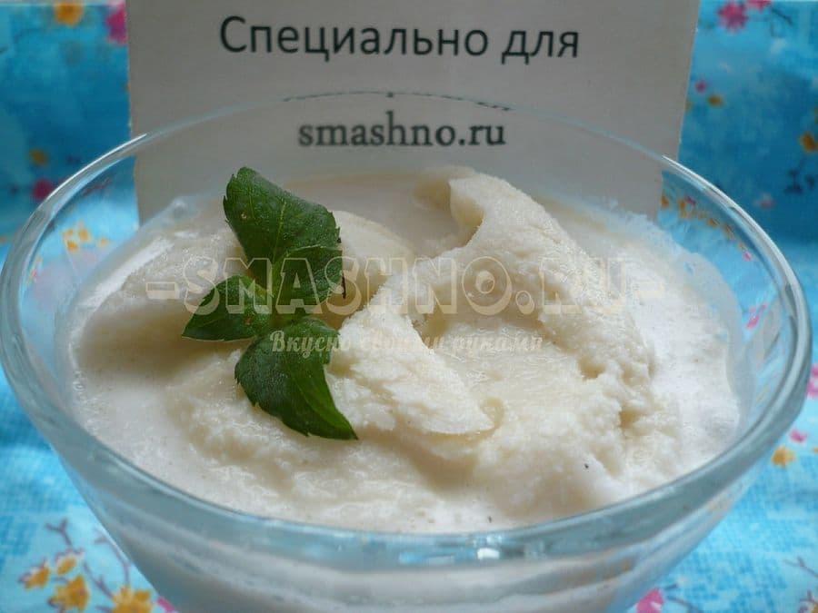 Мороженное с зелёным чаем
