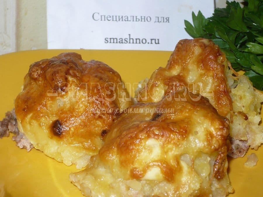 Картофеля фаршем духовке рецепт фото
