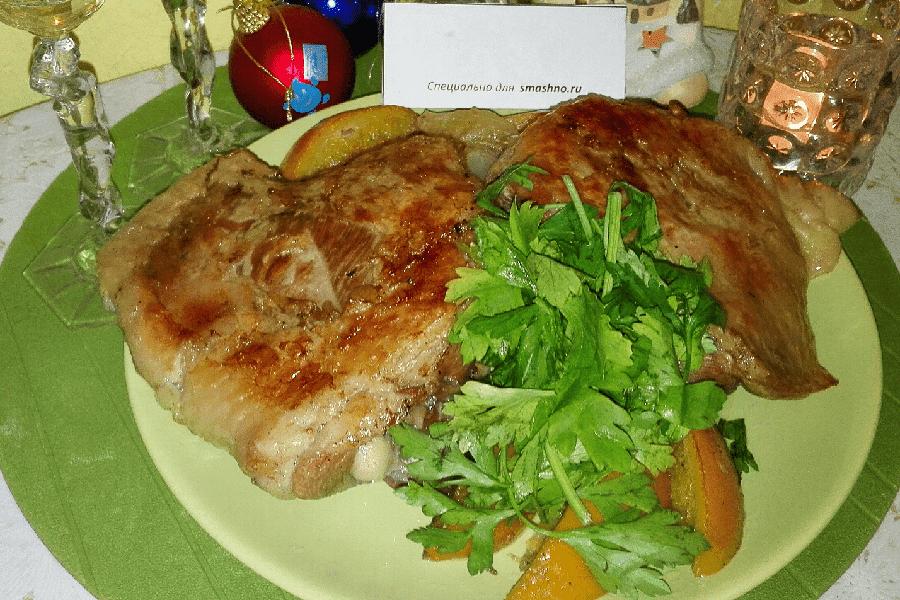 Рецепт из стейков индейки пошагово