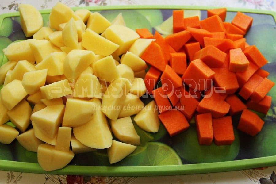 Картошка с тыквой рецепт с пошаговым фото