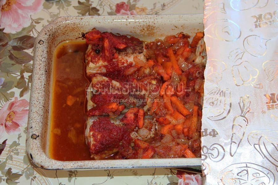 рецепт рыба хек в духовке в соусе