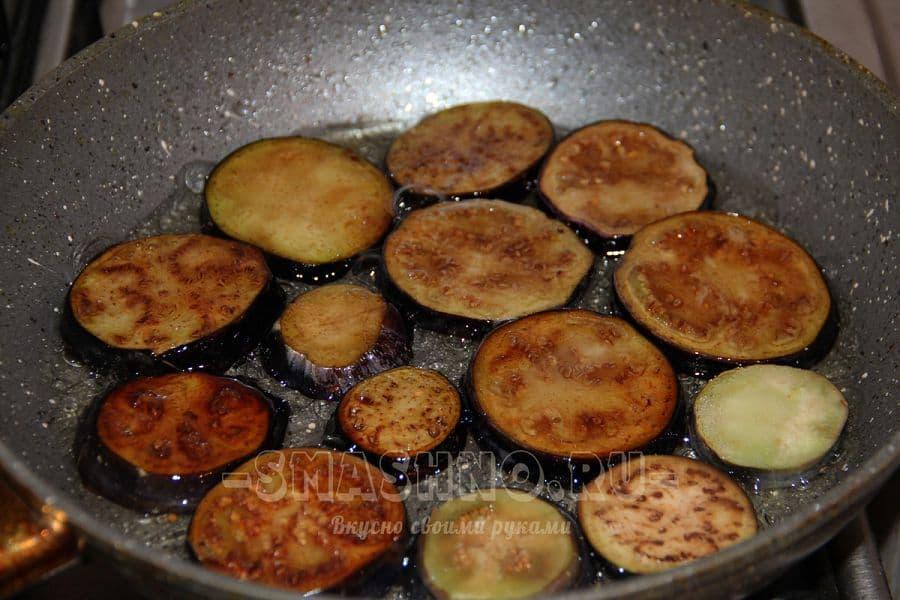 Баклажаны на сковороде пошагово фото