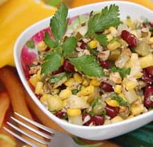 Рецепт салата из фасоли