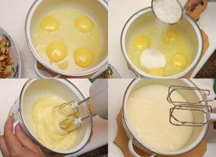 Яйца, взбитые с сахаром