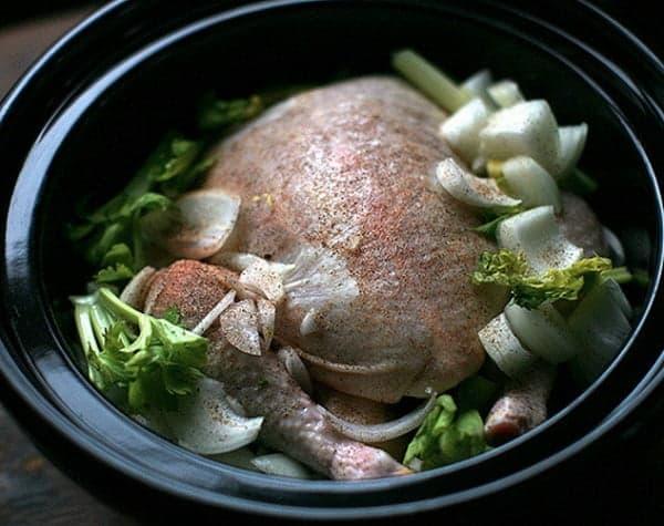 Приготовление курицы с овощами в медленноварке