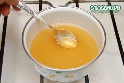 Нагреваю желатин