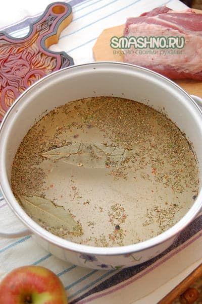 Приготовление буженины, маринад