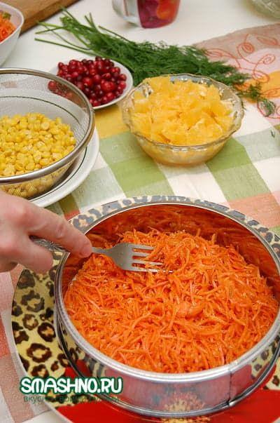 Слой корейской морковки