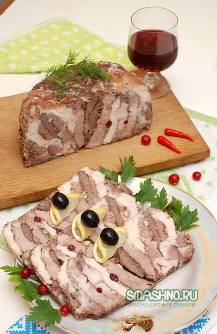 Мясо слоями