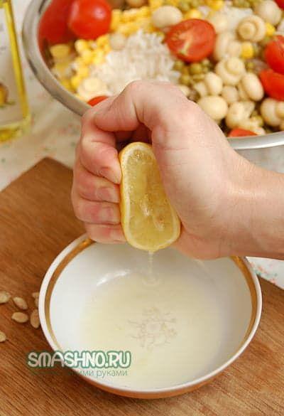 Салат из вареного риса