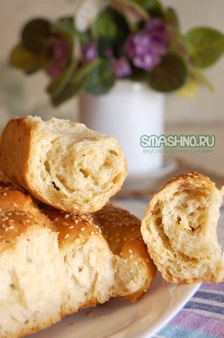 Сырный хлеб изнутри