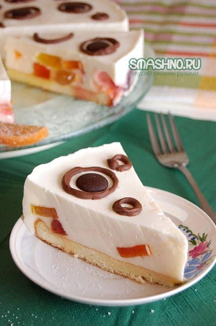 Желейный сметанный торт, фото
