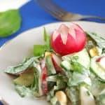 Весенний салат с черемшой, фото