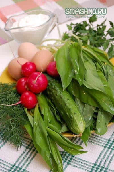 Продукты для весеннего салата