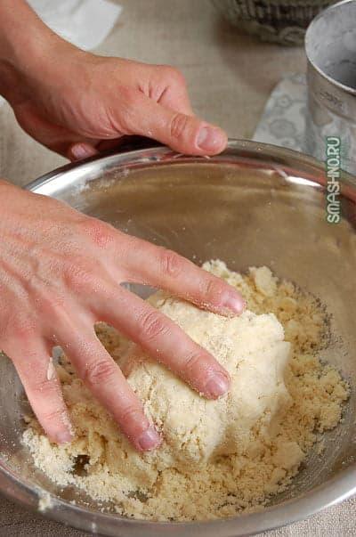Песочное тесто для пирога со смородиной