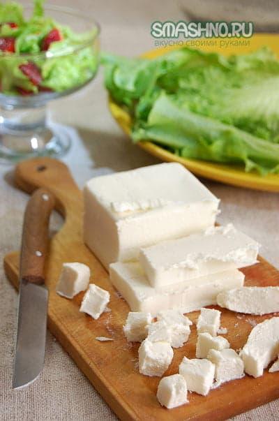 Сыр - небольшими кубиками