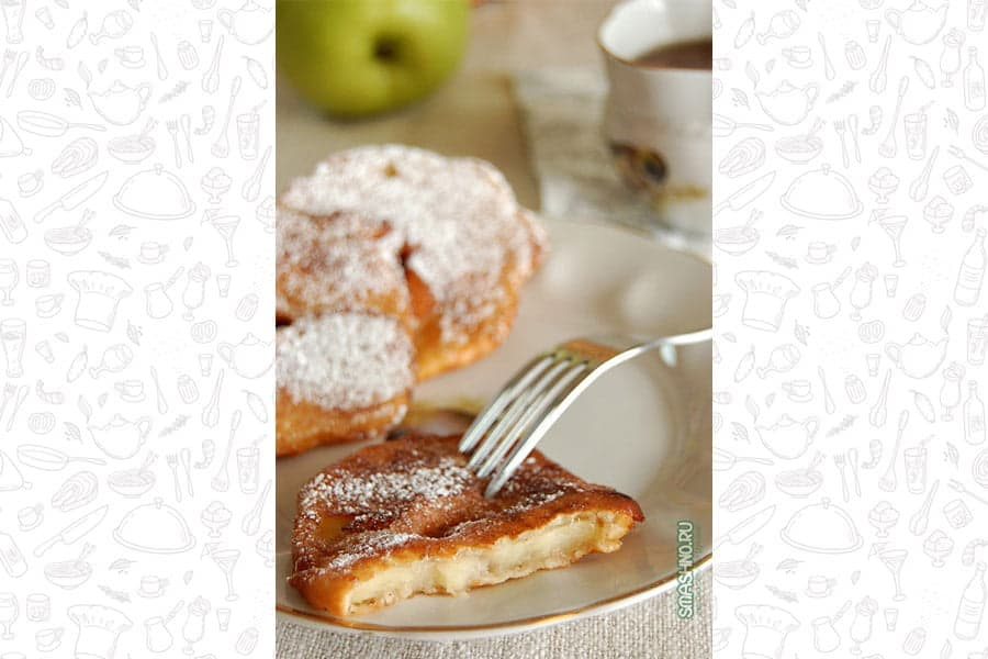 Оладьи с яблоками, фото