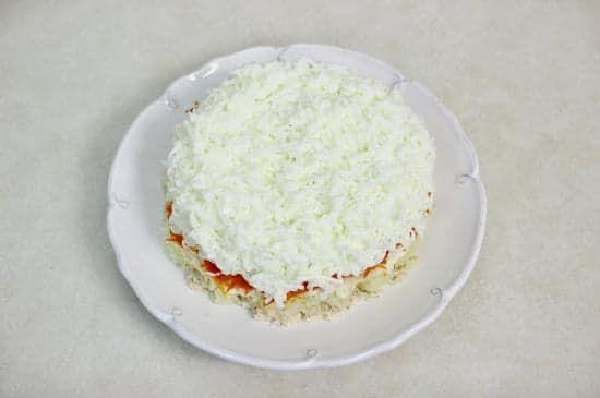 Слой белков в салате