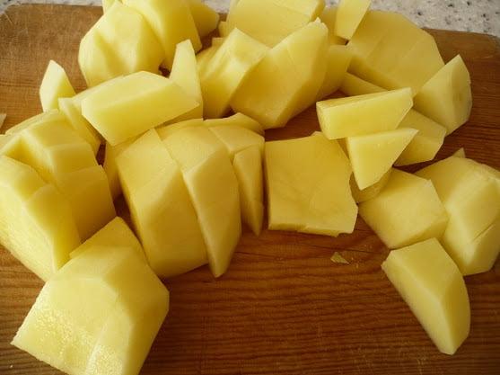 Картошка измельчается