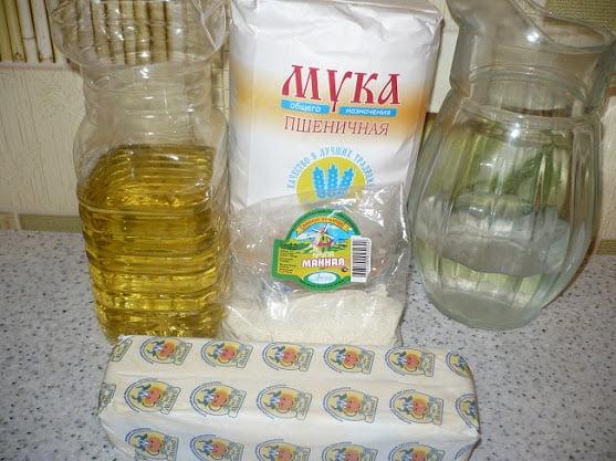 Ингредиенты, необходимые для приготовления самос
